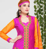 TRENDY PINK-ORANGE DRESS VDTVA402