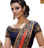 FROM THE OF STYLISH BAZAAR STARING PINK & BEIGE COLORED HALF AND HALF CHIFFON SAREE NKFM4030