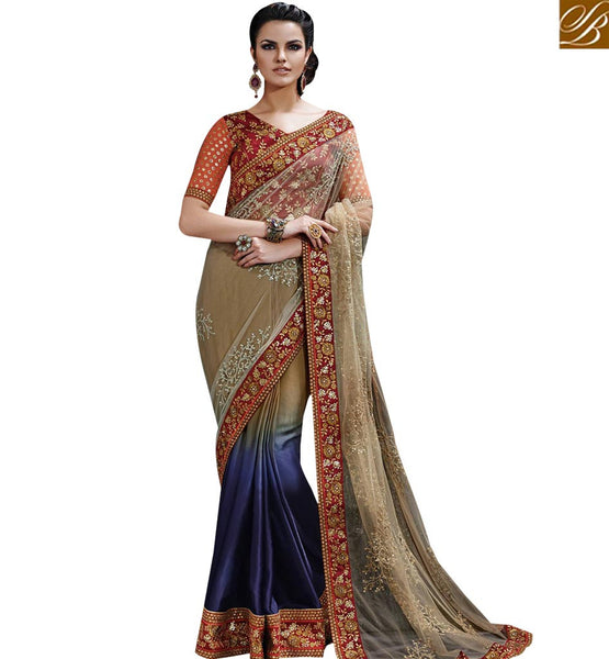 STYLISH BAZAAR STARING MULTICOLORED CHIFFON SAREE NKFM4035