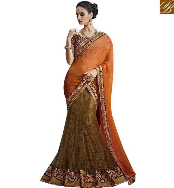 STYLISH BAZAAR CATCHY DESIGNER PARTY WEAR SAREE NKFM4038