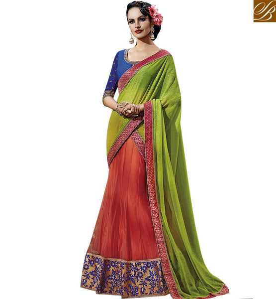 STYLISH BAZAAR CELESTIAL MULTICOLORED GEORGETTE SAREE NKFM4039