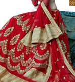 FROM STYLISH BAZAAR ELEGANT MAROON NET DESIGNER LEHENGA CHOLI WITH THREAD WORK & LACE BORDER WORK ON DUPATTA SLGAJ403A