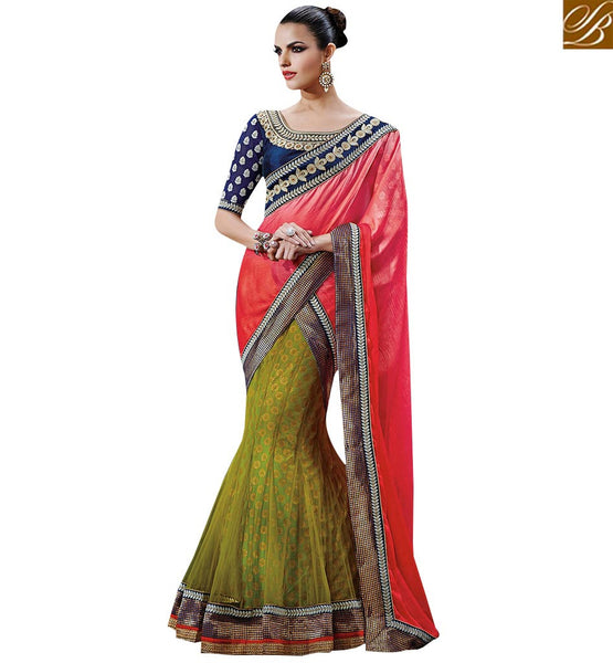 STYLISH BAZAAR PREPOSSESING CLASSIC DESIGNER SAREE WITH NICE LOOKING BORDER WORK NKFM4041