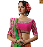 BROUGHT TO YOU BY STYLISH BAZAAR STYLISH MULTICOLOR HALF AND HALF DESIGNER SAREE NKFM4043