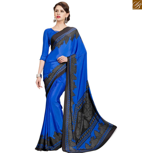 STYLISH BAZAAR INTRODUCES DAZZLING DESIGNER PRINTED PARTY WEAR SARI BLOUSE RTPAL404