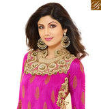 PUNJABI SALWAR KAMEEZ COLOUR COMBINATIONS WITH GEORGETTE EMBROIDERED TOP KARACHI CHURIDAR DESIGNS WITH STONE WORK DUPATTA