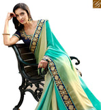 STYLISH BAZAAR PRESENTS STUNNING MULTICOLORED DESIGNER SAREE WITH SPLENDID BORER WORK NKITA4055