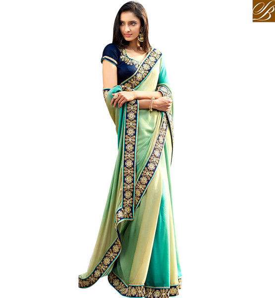 STYLISH BAZAAR STUNNING MULTICOLORED DESIGNER SAREE WITH SPLENDID BORER WORK NKITA4055
