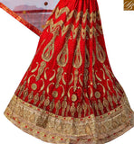 STYLISH BAZAAR INTRODUCES APPEALING MAROON NET EMBROIDERED LEHENGA CHOLI WITH STONE WORK SLGAJ405A