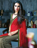 INDIAN ONLINE SHOPPPING WEBSITE MAROON & GREEN CASUAL SAREE RTKAL405A