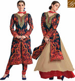 RAMADAN EID 2015 SPECIAL COLLECTION 2 IN 1 DRESS BRIGHT COLORED DENSE EMBROIDERY WORK ON KAMEEZ WITH METALLIC THREAD WORK NECKLINE