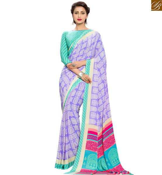 STYLISH BAZAAR DELIGHTFUL PRINTED DESIGNER SAREE FOR PARTIES RTPAL405
