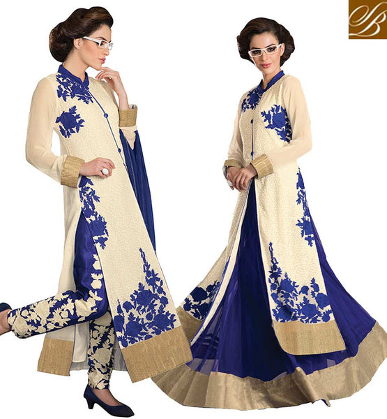 EID 2015 SPECIAL DRESS FOR INDIAN & PAKISTANI LADY LONG SHERWANI STYLE TOP TO PAIR WITH EITHER A SALWAR AND A LEHENGA