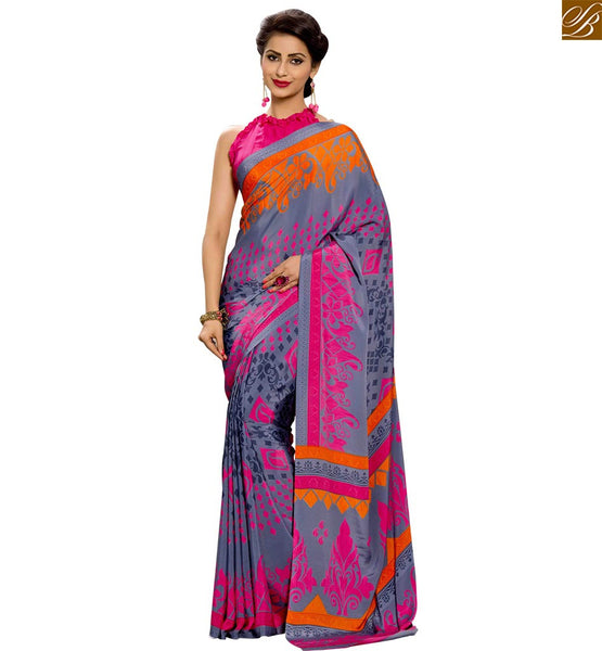 STYLISH BAZAAR EXQUISITE DESIGNER PRINTED PARTY WEAR SARI RTPAL406