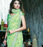 INDIAN ONLINE SHOPPPING WEBSITE GREEN PRINTED CASUAL WEAR SAREE RTKAL407A