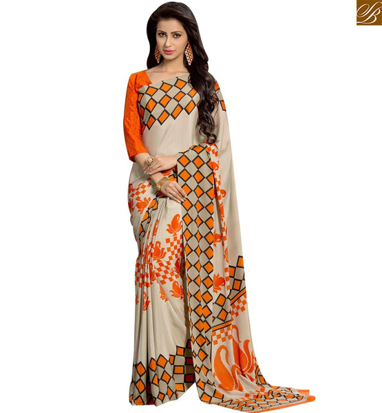 STYLISH BAZAAR EXCELLENT DESIGN PRINTED SAREE BLOUSE RTPAL407