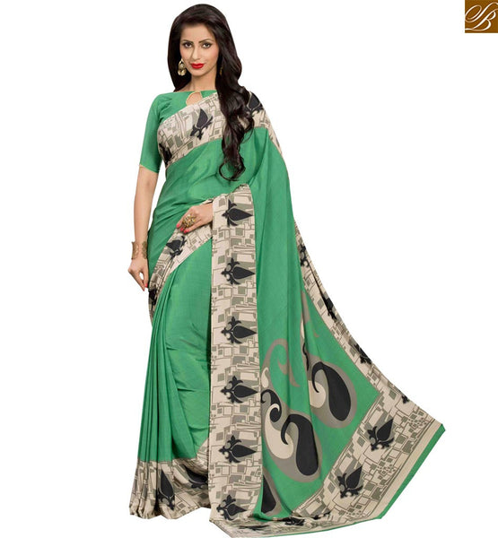 STYLISH BAZAAR SAREE FASCINATING PRINTED PARTY WEAR SARI RTPAL408