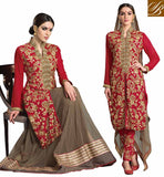 DRESS UP GAMES FOR WOMEN SALWAR KAMEEZ & LENGHA SUPERB FLORAL EMBROIDERY GEORGETTE KAMEEZ WITH CHIFFON DUPATTA