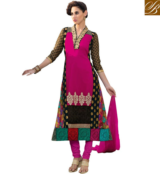 FROM THE OF STYLISH BAZAAR TRENDY STRAIGHT CUT DESIGNER SALWAAR SUIT VDADT4105