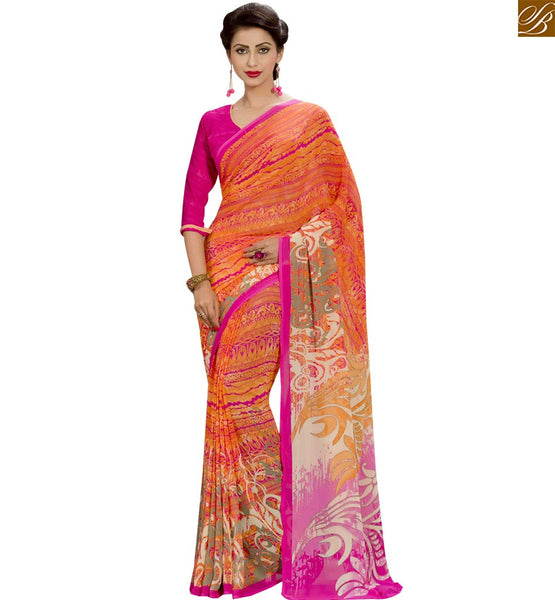 STYLISH BAZAAR GOOD-LOOKING DESIGNER PARTY WEAR SARI RTPAL410