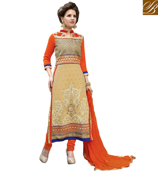SERENE DESIGNER PARTY WEAR PAKISTANI STYLE SALWAAR SUIT VDADT4110 BY ORANGE