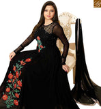 STYLISH BAZAAR GOOD LOOKING BLACK GEORGETTE NET DRASTI DHAMI GOWN STYLE DESIGNER SUIT LTNT41263