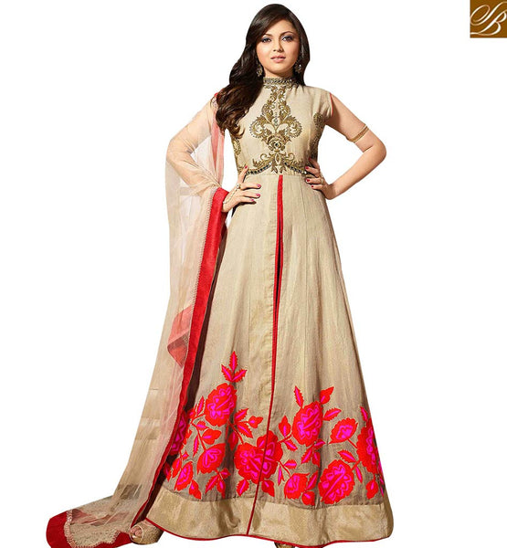 STYLISH BAZAAR BUY DRASTI DHAMI ANARKALI SUITS FROM STYLISH BAZAAR WITH FLORAL WORK LTNT41264