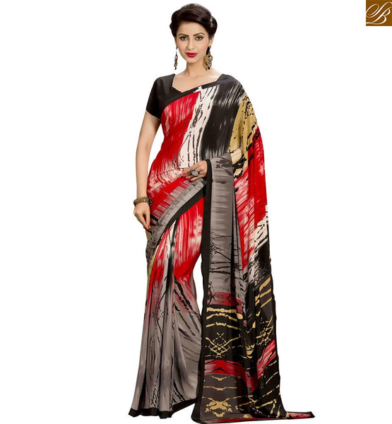 STYLISH BAZAAR PRESENTS MAGNIFICENTLY DESIGNED SARI FOR PARTIES RTPAL412