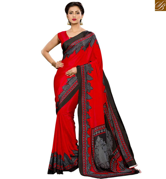 STYLISH BAZAAR BEAUTIFUL DESIGNER PARTY WEAR PRINTED SAREE RTPAL417