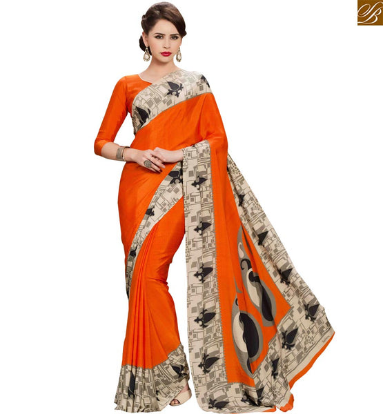 STYLISH BAZAAR ADMIRABLE DESIGNER PRINTED SARI FOR PARTIES RTPAL418