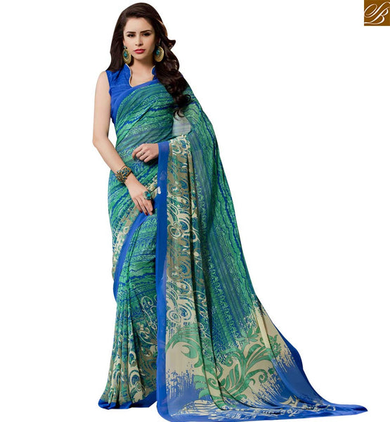 STYLISH BAZAAR ADORABLE PRINTED DESIGNER SAREE BLOUSE DESIGN RTPAL419