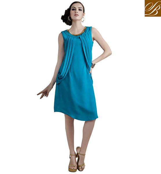 TRENDY PARTY WEAR KURTI DESIGN 2015 FOR WOMEN VDETC41