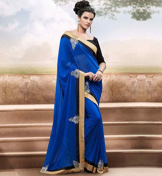 LATEST COLLECTION GLITTERING STYLE PARTY WEAR SAREE BLOUSE DESIGNS