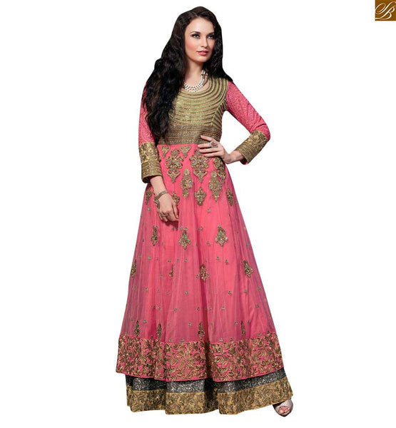 STYLISH BAZAAR PRICESS LOOK DESIGNER PINK SALWAR KAMEEZ FOR PARTY WEAR RTVSN4204