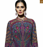 STYLISH BAZAAR INTRODUCES WONDERFUL MULTI COLOR GEORGETTE EMBROIDERED SALWAR KAMEEZ WITH ROUND NECK MJBL1355
