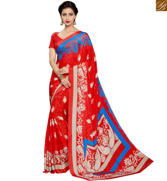 STYLISH BAZAAR BEWITCHING RED DESIGNER SAREE BLOUSE DESIGN RTPAL423