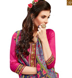 LOVELY PINK COLOR EMBROIDERED COTTON PATIALA SUIT WITH PRINTED SALWAR AND DUPATTA MNJ42580