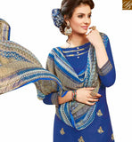 GLAMOROUS BLUE COLOR EMBROIDERED COTTON PATIALA SUIT WITH PRINTED SALWAR AND DUPATTA MNJ42581