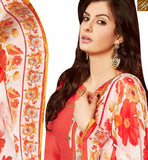 FASHIONABLE RED EMBROIDERED COTTON PATIALA SUIT WITH PRINTED SALWAR AND DUPTTA MNJ42584