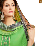 WONDERFUL GREEN COTTON EMBROIDERED PATIALA SUIT WITH PRINTED SALWAR AND DUPATTA MNJ42587