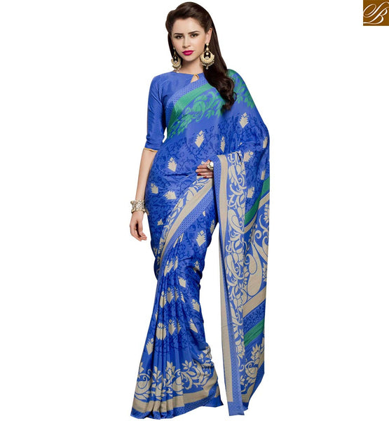STYLISH BAZAAR DAZZLING PRINTED PARTY WEAR SARI DESIGN RTPAL428