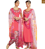 STYLISH BAZAAR LOVELY PINK DESIGNER PATIALA SALWAR KAMEEZ WITH MULTI COLOR PRINTED BOTTOM & DUPATTA MNJ42910