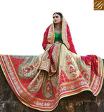 FROM THE HOUSE  OF STYLISH BAZAAR EXCEPTIONALLY WELL DESIGNED BRIDAL WEAR SARI RTDUL43