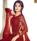 STYLISH BAZAAR PRESENTS INVITING MAROON GEORGETTE DESIGNER SUIT HAVING GLAMOROUS LOOK OF THE DESIGN MNJ29006