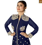 STYLISH BAZAAR INTRODUCES APPRECIATING BLUE GEORGETTE HEAVY EMBROIDERED ANARKALI SALWAR KAMEEZ WITH SLIT CUT MNSA12025