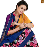 FROM THE HOUSE OF STYLISH BAZAAR ATTRACTIVE BLUE AND YELLOW GEORGETTE HALF N HALD DESIGNER SAREE MNJ43151