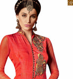 IDEAL RED COLOR ANARKALI SALWAR KAMEEZ WITH ZARI WORK AND DIGITAL PRINTED ANARKALI SUIT ARMNJ13006
