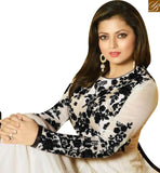 FROM STYLISH BAZAAR MADHUBALA DRASHTI DHAMI LATEST WHITE GEORGETTE  ANARKALI SUIT LTNT91001