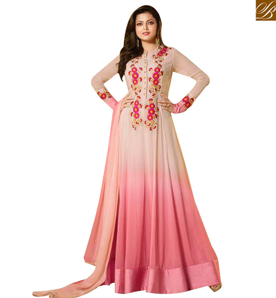 STYLISH BAZAAR MADHUBALA DRASHTI DHAMI LATEST NEW PINK GEORGETTE ANARKALI SUIT LTNT91003