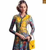 FROM THE HOUSE OF STYLISH BAZAAR GORGEOUS MULTI COLORED DESIGNER DIGITAL PRINTED KURTI RNW9029